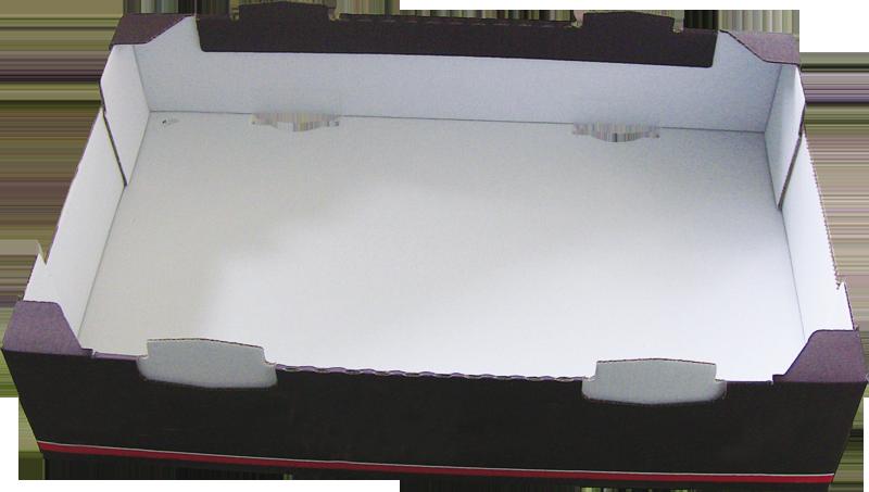 Caisse carton - barquette carton formée avec Formeuse Barquetteuse MIBOX