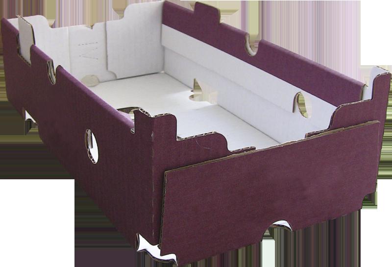 Caisse carton avec trottoirs formée et collée avec Formeuse MIBOX