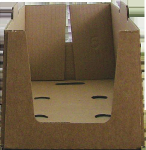 Caisse carton collée formée avec la Formeuse Barquetteuse MIBOX