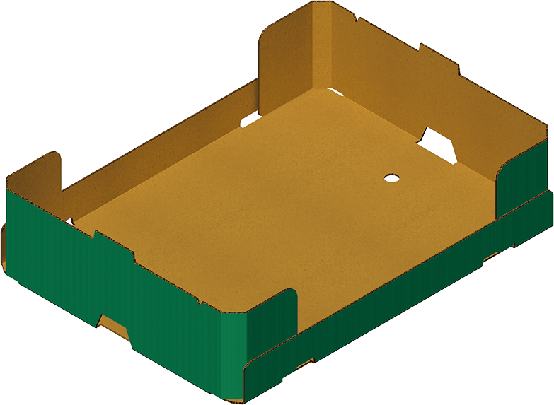 Caisse 4 coins collés, réalisée avec Formeuse Barquetteuse MIBOX