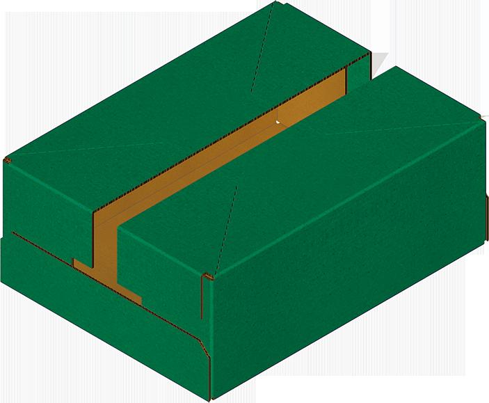 Caisse carton fermée, obtenue avec Formeuse Barquetteuse MIBOX
