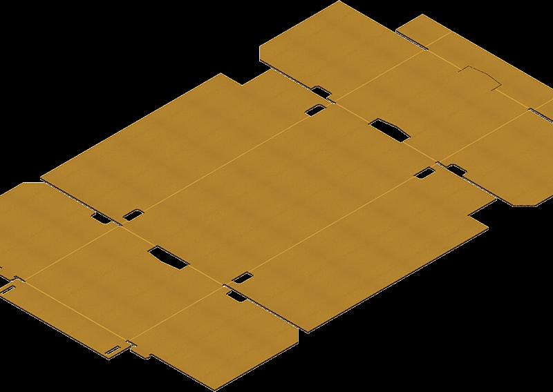 Caisse Trottoir Découpe A Plat Pour Formage Carton Avec Une Formeuse Barquetteuse MIBOX