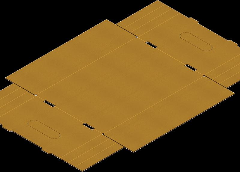 Caisse Carton Avec Poutres Dièdres Pour Formeuse Barquetteuse MIBOX D20
