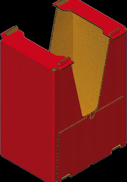"""Caisse Carton """"prêt à Vendre"""" Formée Sur Formeuse Barquetteuse MIBOX"""