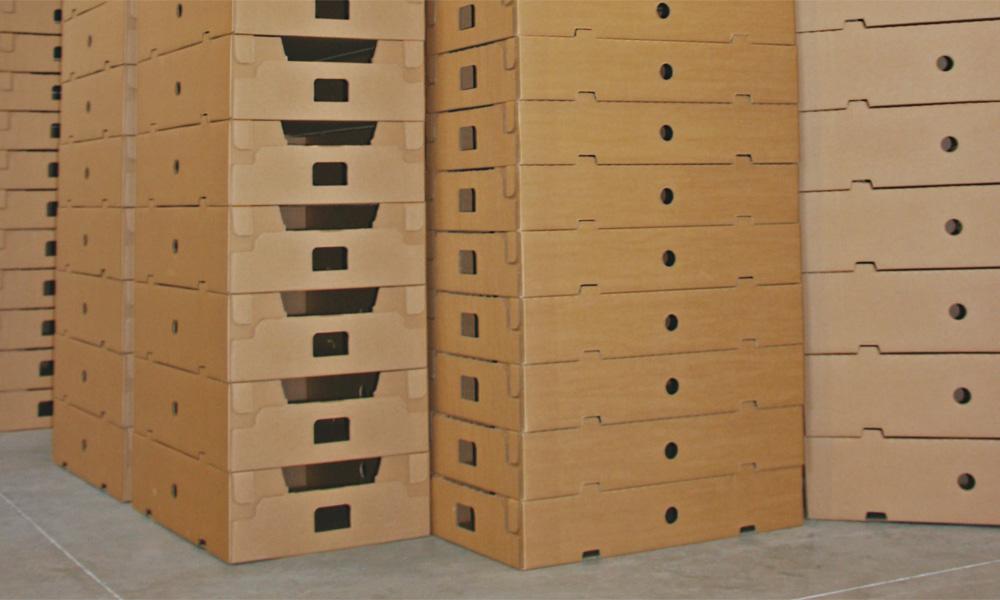 Boîtes carton, caisses carton empilables empileur S30 MIBOX
