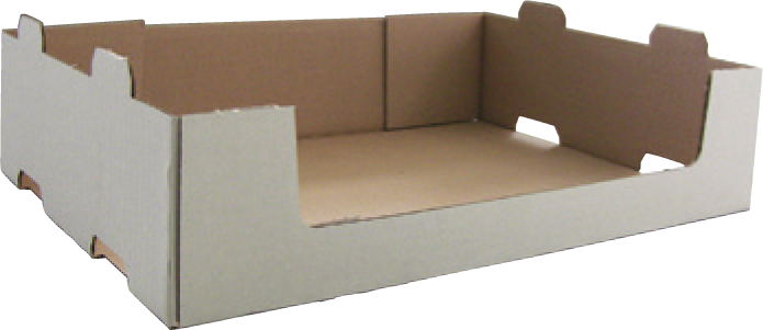 Boîte carton coins collés (display) formée sur MIBOX D20