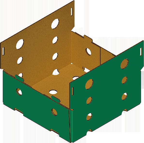 Boîte Carton 4 Coins Collés Avec Deux Demi Couvercles Formeuse MIBOX