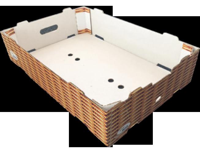 Caisse carton avec poutres dièdres MIBOX D20